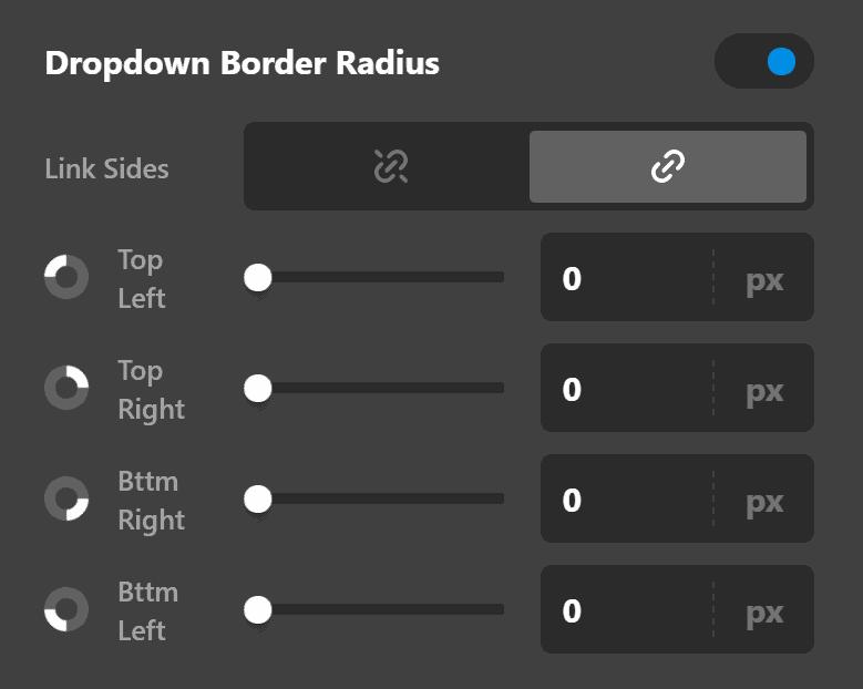 Dropdown Border Radius