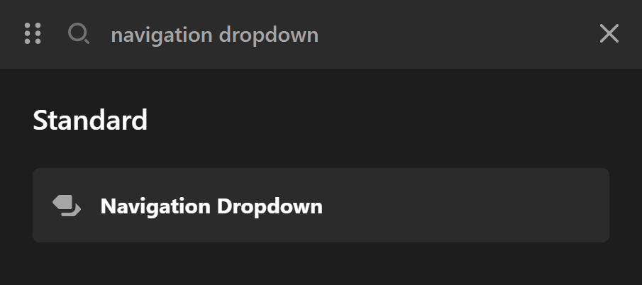 Navigation Dropdown Elements