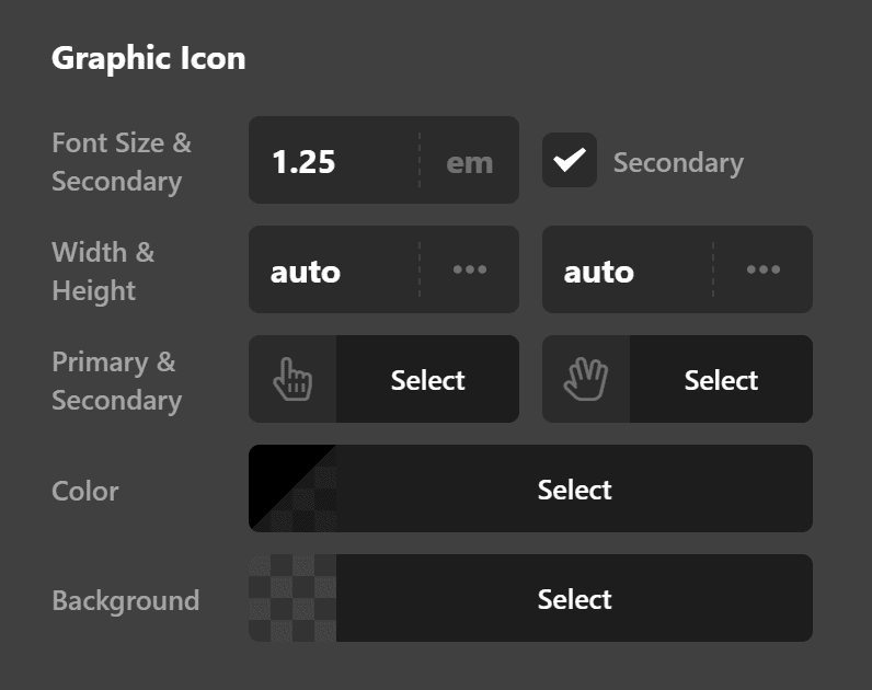 Navigation Dropdown Graphic Icon