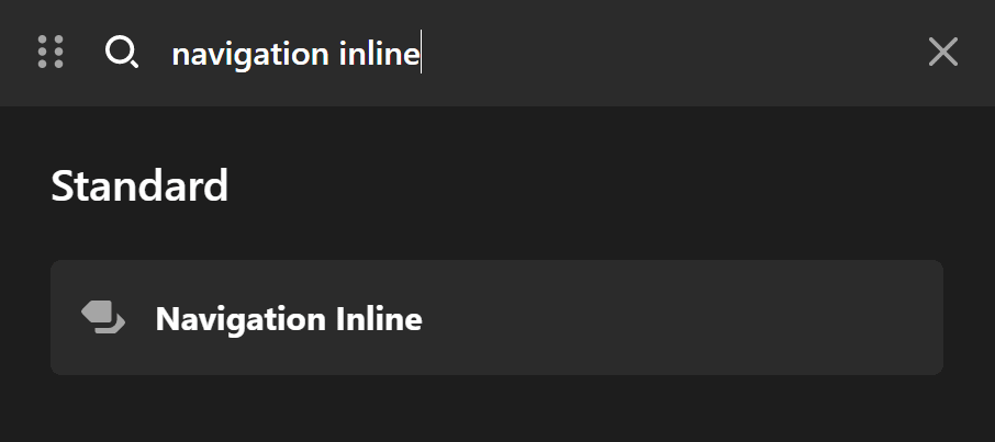 Navigation Inline Element