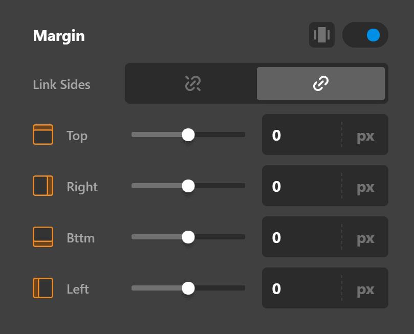 Navigation Layered Design Settings