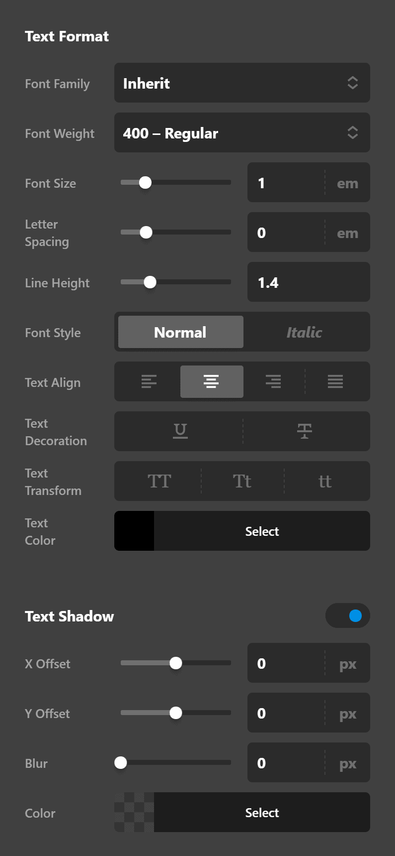 Quote Text Settings