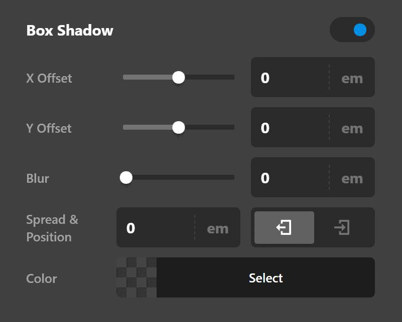 Rating Element Border Radius Box Shadow