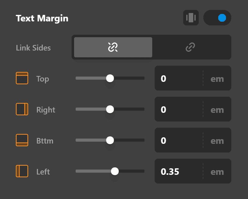 Rating Element Text Margin