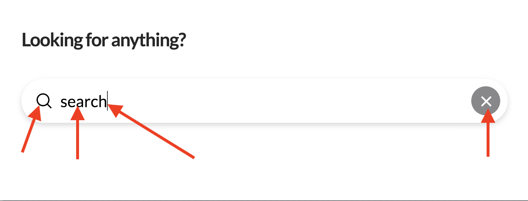 Search Inline Form Elements