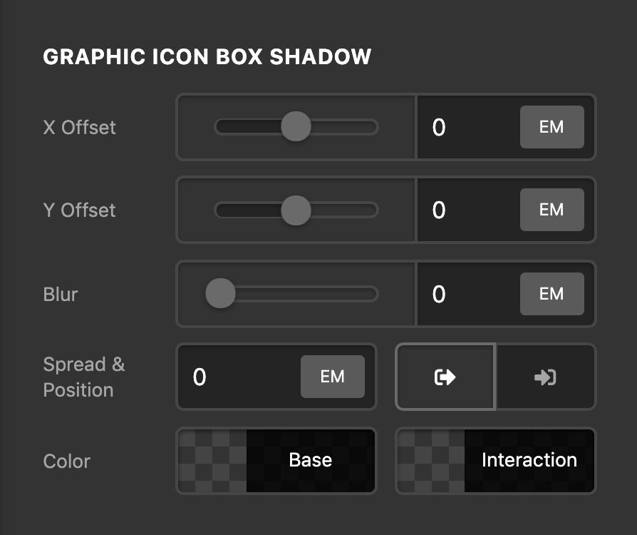 Social Graphic Icon Box Shadow