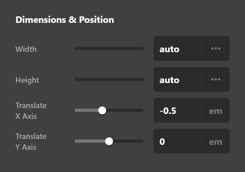Statbar Label Dimensions & Position
