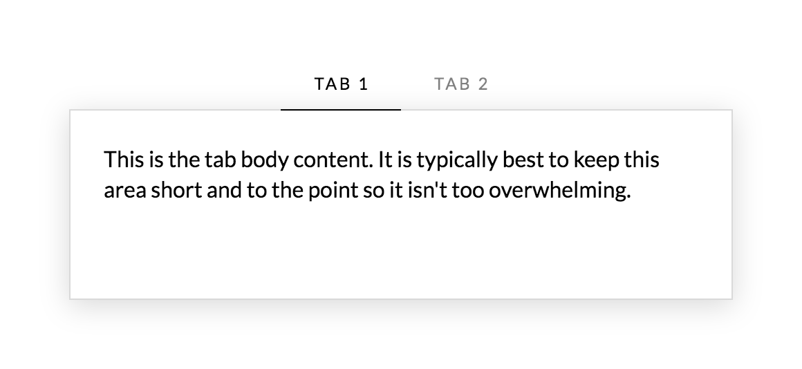 Tabs Example Center