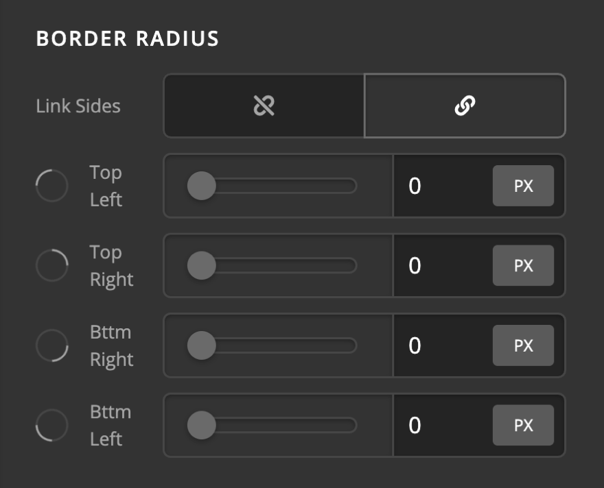 Testimonial Element Citation Setup Border Radius
