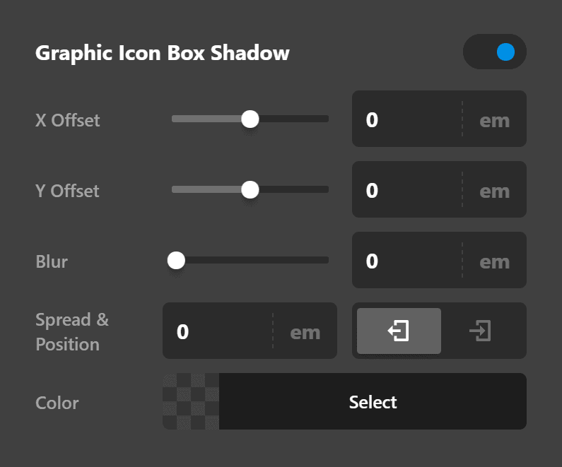 Testimonial Element Graphic Icon Box Shadow