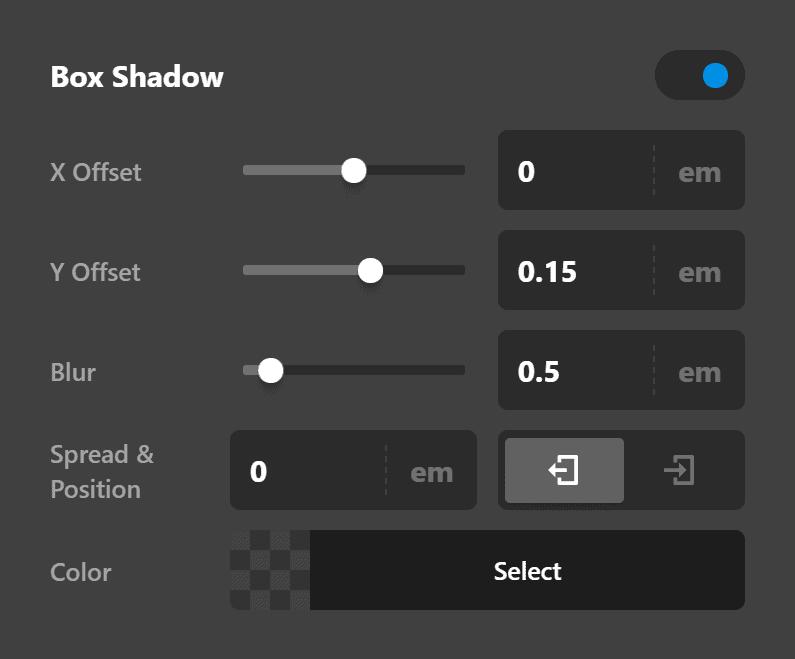Text Box Shadow