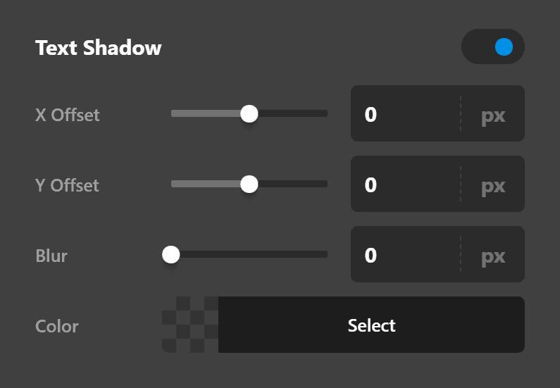 Text Shadow