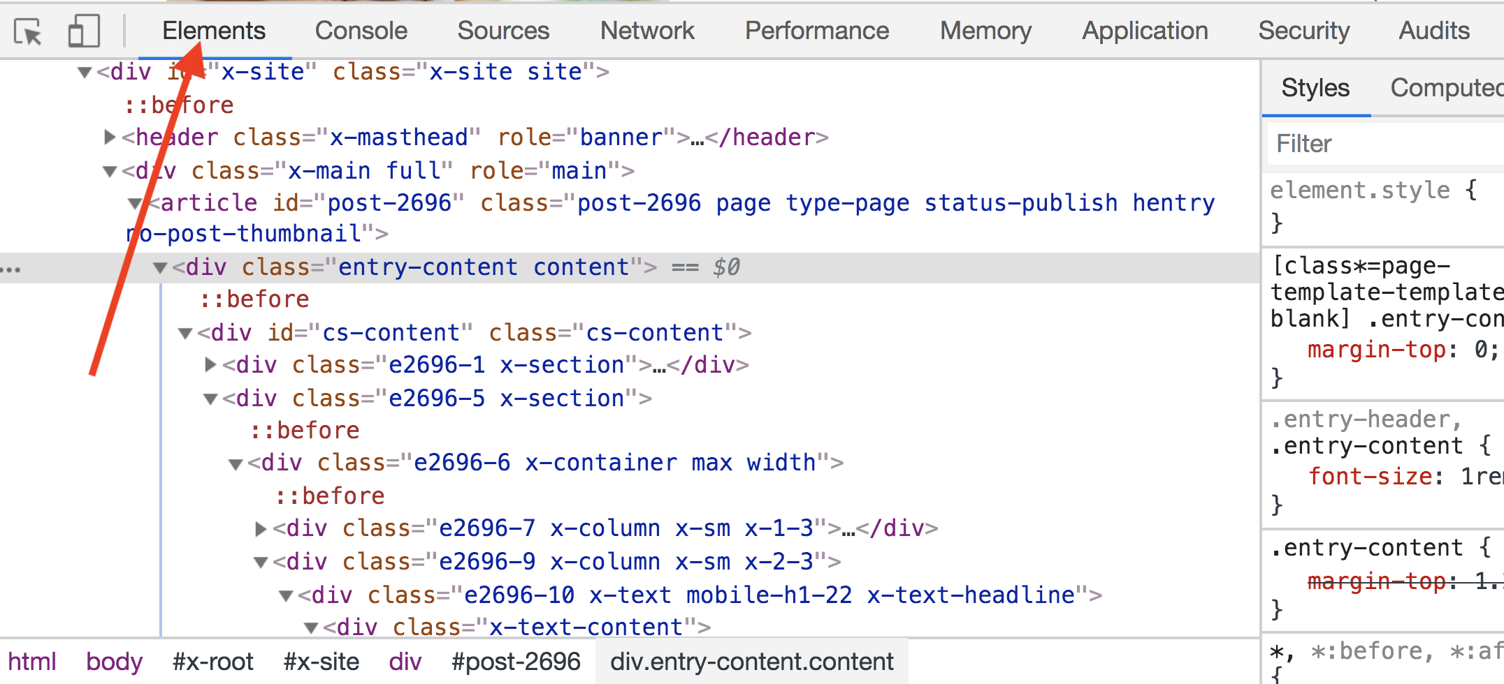 CSS Inspector Example