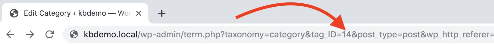 Category URL ID