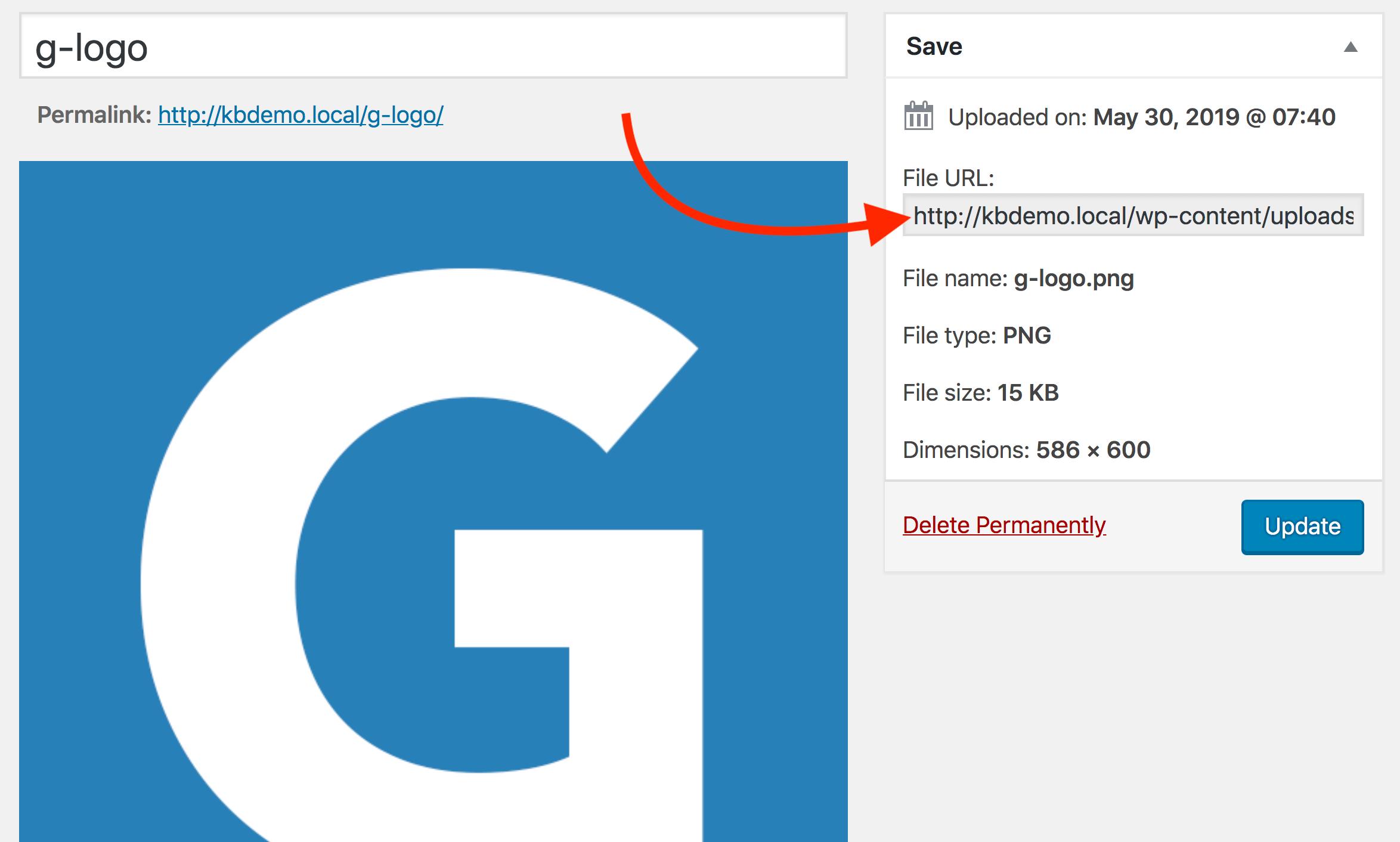 Copy Logo URL