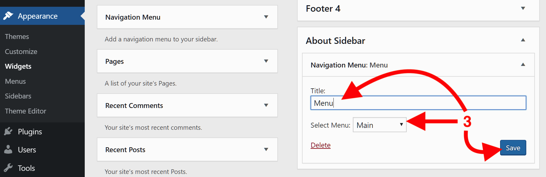 Assign to About Sidebar