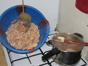 Figure 1: Boiling baobab seeds for improved germination rates. Photo: Jonathan Nicols.