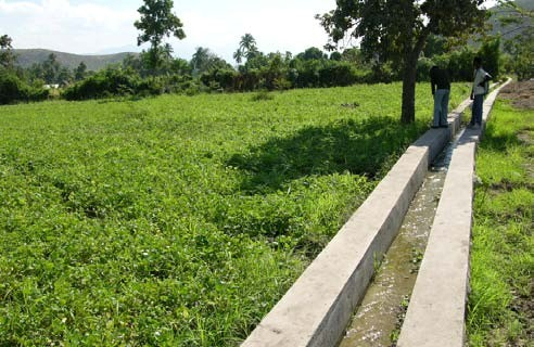 Figure 1: Irrigation channel beside a farmer's field in Haiti. Water use is often governed by local norms that may not be immediately obvious.