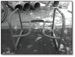 Figure 2. Prototype of the metal latrine chair