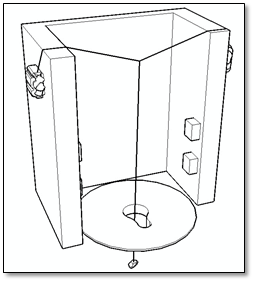 Figure 5. The latrine hole locating system developed by the AWDS.