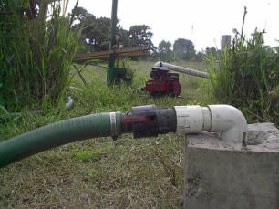 Figure 4. Quick coupling on a pump. Photo by Wayne Niles.