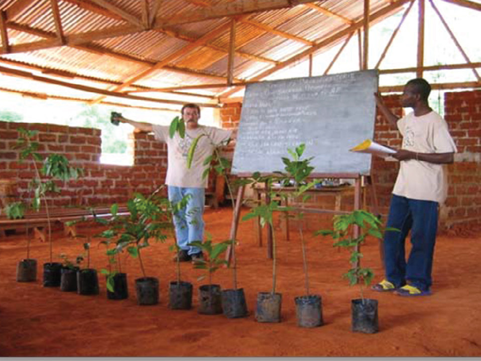Tree Gardening seminar out in a village.