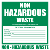 Non hazardous waste labels