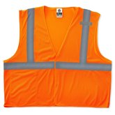 Orange safety vest ansi 2