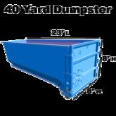 40 yard dumpster wmeasurement ez rentout