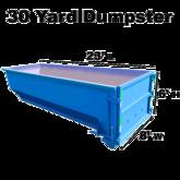 30 yard dumpster w measure