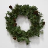 Wreath  greenery  pinecones