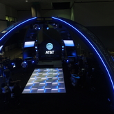Led lit tradeshow booth