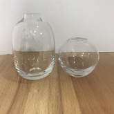 "2.5"" Round Clear Glass Bud Vase"