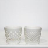 White ceramic votive cup