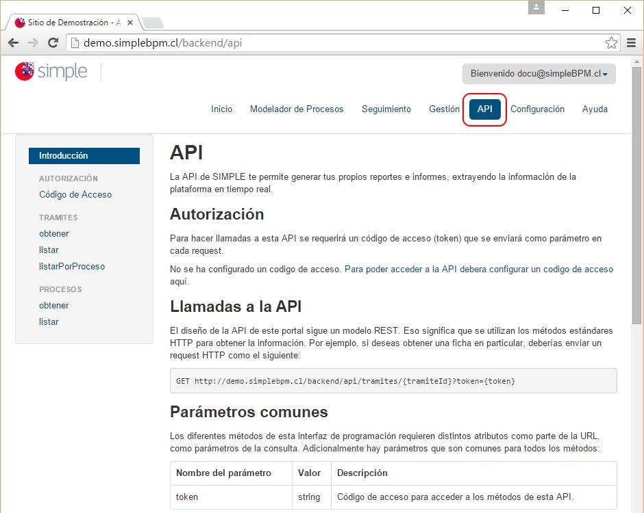 Ingreso API