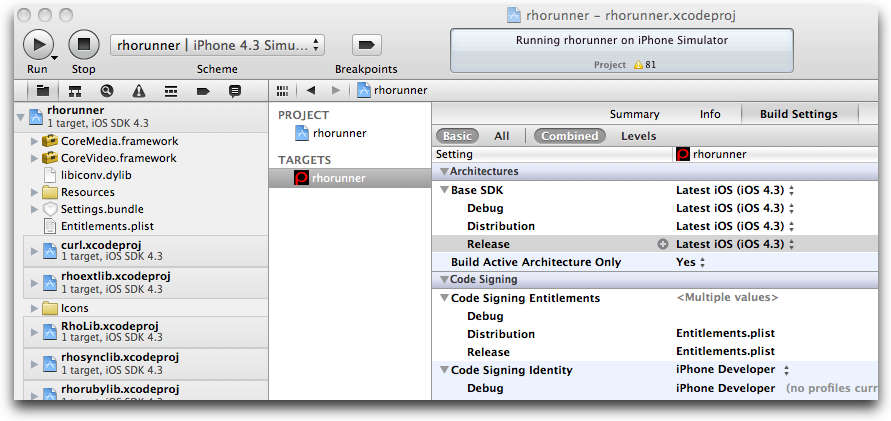 xcode build settings