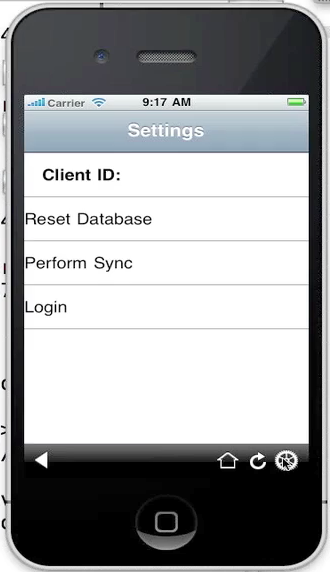 Issue Tracker on iPhone Settings