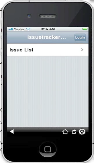 Issue Tracker on iPhone