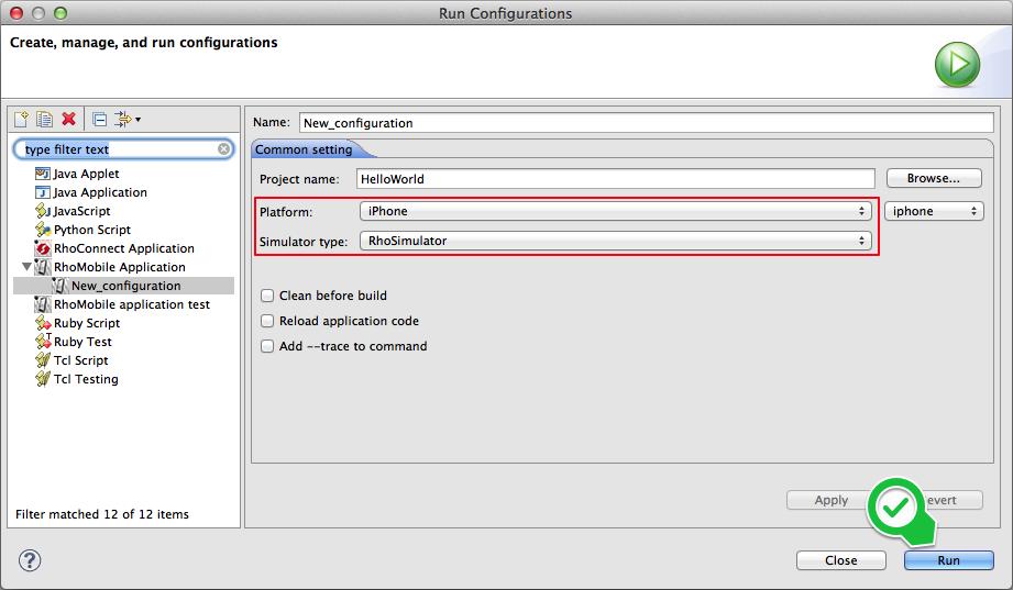 Run Configurations