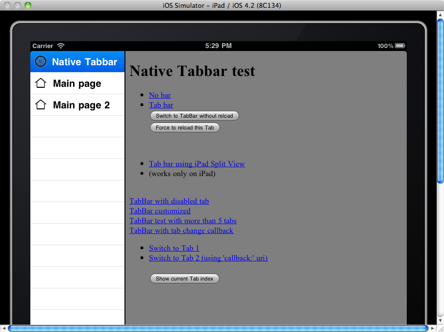 native tabbar splitview