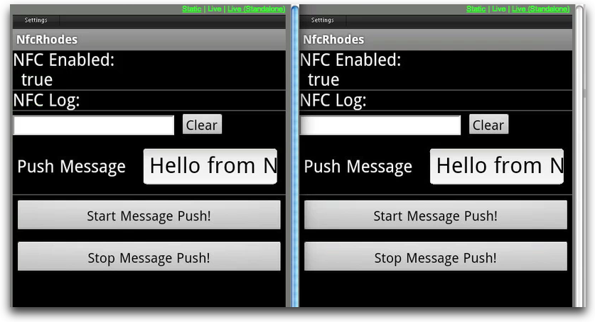 nfc-rhodes two devices