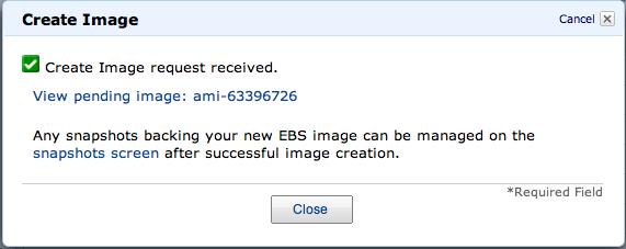 Create Image request