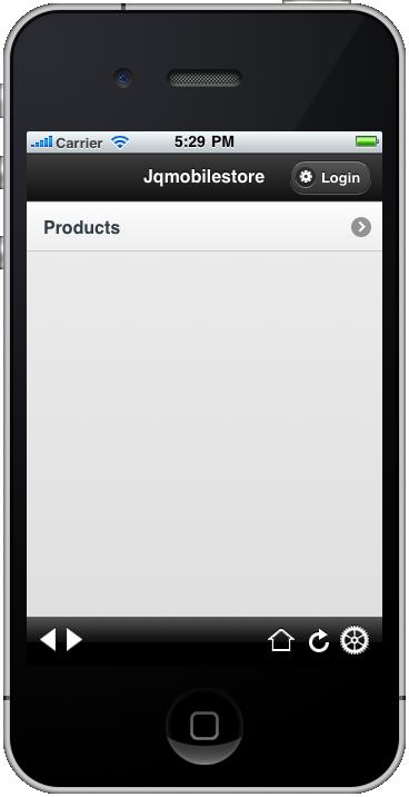 jquerymobile iPhone index page