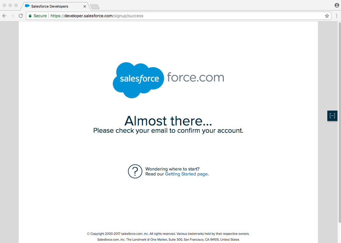 developer.salesforce.com/signup/success