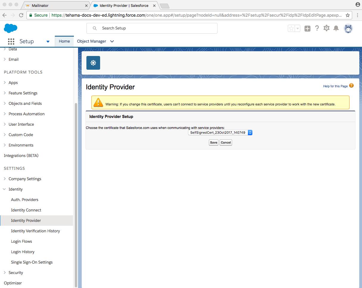 developer salesforce domain enabled identity_provider