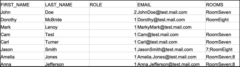 csv member spreadsheet