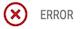 error status icon
