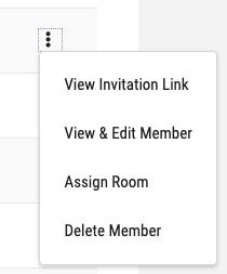 member row in members page actions menu open