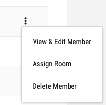 member row in team page actions menu open