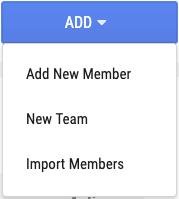 New member dropdown menu